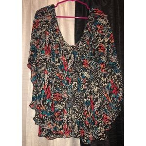 Pure Energy Poncho Style blouse
